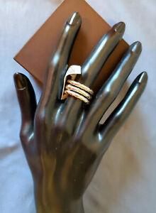 Pianegonda set of 3 SS rings. NWB