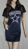 NWT Dallas Cowboys Womens Glitter Bling Game Day Jersey Dress Retired #12 Navy~S