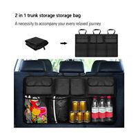 2 in 1 Auto Universal Rücksitz Aufbewahrung Tasche Organizer mit Netz Kofferraum
