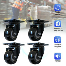 4pack 2 Inch Swivel Caster Wheels Heavy Duty Safety Plate Casters With No Brake