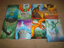 Wings of Fire + Winglets 8 BOOK LOT Tui T Sutherland Series Fantasy Dragons Set