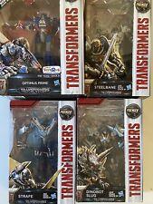 TRANSFORMERS Last Knight Lot of 4: Optimus Exclusive, Steelbane, Slug, Strafe