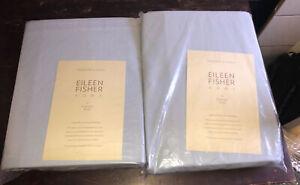 NWT Eileen Fisher Garnet Hill Cotton Linen Flannel Sheets Queen