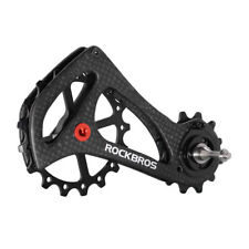 RockBros Bike Rear Derailleur Cage Pulley Carbon Fiber 17T SRAM Di2 Black
