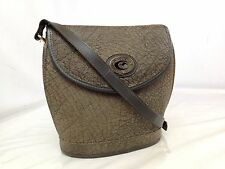 Auth Casablanca Kangaroo Leather Shoulder Bag Brown 7E160140S