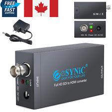 SDI To HDMI Converter Adapter BNC Coaxial SD/HD/3G-SDI Signal POWER 1080P CA NEW