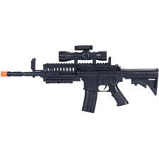 M4 A1 M16 TACTICAL SPRING AIRSOFT RIFLE GUN w/ LASER SCOPE 6mm BB BBs