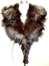 Vintage zorro pelzstola estola guardián zorro plateado Silver Fox fur collar 70er