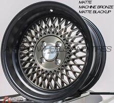 15X8 AVID.1 AV-18 4X100 +25 BRONZE BLACK RIM FIT MIATA BMW 318 325 E21 E31 2002
