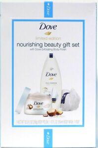 Dove Limited Edition Nourishing Beauty Exfoliating Body Polish 3 Piece Gift Set