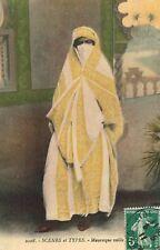 North Africa,Femme Mauresque,Moorish Woman with Veil (Burqa),Used,Algiers,1911