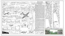 SUPERMARINE ATTACKER FREE FLIGHT JETEX MODEL PLAN AND PARTS PATTERNS
