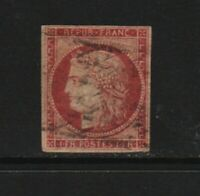 France - #9 used, cat. $ 650.00