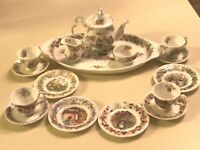 ❤️Royal Doulton Brambly Hedge Miniature Tea Service Set 17 Pieces All Seasons❤️