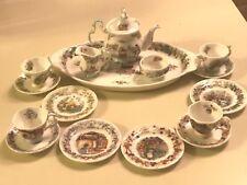 ❤️Royal Doulton Brambly Hedge Miniature Tea Service Set 17 Pieces All Seasons❤️