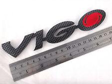"""BLACK CARBON RED """" VIGO """" LOGO EMBLEM DECAL TOYOTA HILUX VIGO CHAMP 2005-2014"""