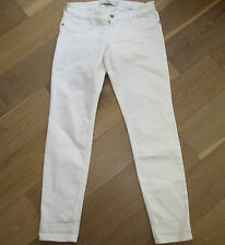 NWT Abercrombie & Fitch Womans White Denim Skinny Jean Pants sz 8 Reg, w 29