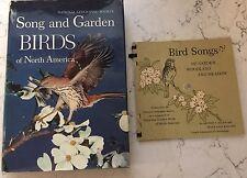 VTG Song And Garden Birds Of N. America 1964 Nat'l Geo W/ Bird Song Records Set