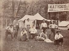 RARE Unusual Photo Katydids Women men w Guns Ribbons Camp Lesbian Baseball? 1900