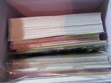 Large box full of greeting cards, envelopes, ink, stamps, ribbon, embellishments