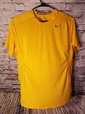 NIKE PRO COMBAT DRI FIT MEN'S FITTED SHORT SLEEVE ATHLETIC SHIRT Yellow XL t7
