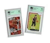 Trae Young 2018 Panini VIP #TY, NBA Hoops #250 - TWO Rookie Card Lot PGI 10 Gem