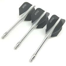 Dart Flights and Stems HARROWS RETINA Extra Strong Aluminium MEDIUM Shafts CLEAR