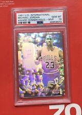 1991 Upper Deck Michael Jordan PSA 10 HOLOGRAM!! POP 2!! MEGA RARE MJ!! 🔥🔥📈📈