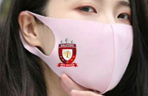 FACE MASK FACEMASK WASHABLE REUSABLE MOUTH COVER SALFORD RED DEVILS RUGBY LEAGUE