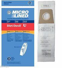 3 Royal Dirt Devil U Vacuum Bags Made by DVC