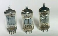 TESTED THREE 12AX7 VACUUM TUBES MATCHED Gm 89%/81%  [Z118]
