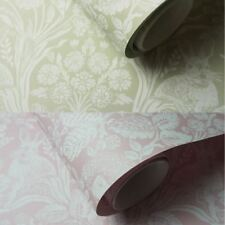 Holden Décor Harlen Woodland Leaf Flower Motif Butterflies Vintage Wallpaper