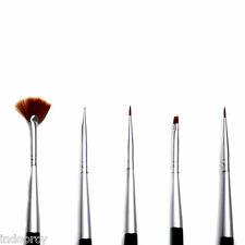 ADORO Decoration Nail Design Brush Set 5pc Art Pen Painting Blending Brushes