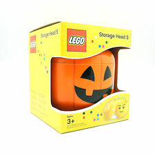 [LEGO] BPA Free Brick Storage Head Small Bin Container Carrying Case_Pumpkin