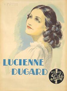 Original Vintage Poster Van Caulaert French Singer  Lucienne Dugard 1938