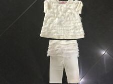 Juicy Couture New & Gen. Baby Girl 2 Pce Cream Cotton Set Age 0/3 MTHS With Logo