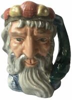 Royal Doulton 1960s Neptune D6555 Tiny Small Mini Character Toby Jug Mug 4""