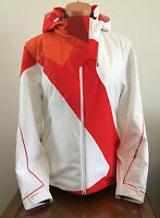 * $500 Spyder Womens 14 XL Volt Jacket White Orange Ski Coat Primaloft Xt.L 20K