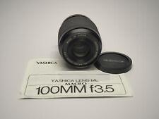 Yashica ML Macro 100 mm / 3,5 Objektiv für Contax / Yashica
