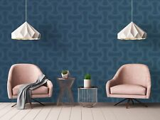 Superfresco Easy Calipso Blue  Geometric Textured Wallpaper