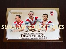 2013 NRL TRADERS 2012 RETIREES CARDS R10/10 DEAN YOUNG ST GEORGE DRAGONS