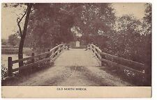 OLD NORTH BRIDGE Road Fence  MASSACHUSETTS Sepia POSTCARD Concord MA