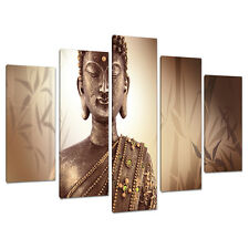 Set di 5 parte Marrone Buddha CANVAS Wall Art FOTO CAMERA DA LETTO STAMPA 5101