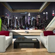 Fototapeten Fototapete Tapete FENSTER STADT NEW YORK NACHT FOTO BLICK 3FX10417P8