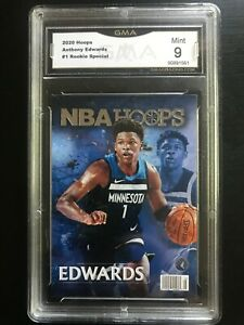 2020-21 NBA Hoops Anthony Edwards Rookie Special #1 GMA 9 Mint GRADED PSA BGS