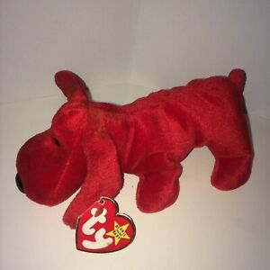 Retired Ty Beanie Baby, ROVER the Red Dog, May 30, 1996, ERRORS Style 4101 PVC