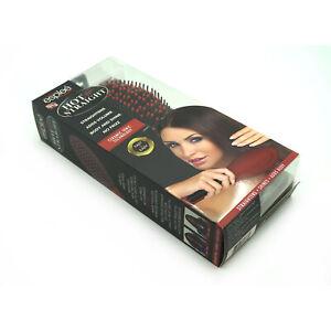Esplee Hot N'Straight Ceramic Frizz Control Hair Straightening Salon Brush | Red