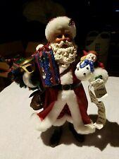 """Clothtique Possible Dreams Santa;730003,""""Holida y Memories"""" w/ original box"""