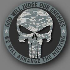 Punisher Skull Camo Us Army Military Die Cut Sticker Decal Car Truck 4 Usa Made