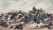 D) Gemälde Soldat Krieg Schlacht Erstürmung Redan Bulgaren Türken H.Sattler 1919